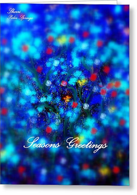 Digital Art Greeting Cards - Seasons Greetings Greeting Card by Sherri  Of Palm Springs