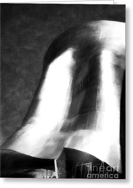 Seattle Art In Black And White Greeting Card by Mel Steinhauer