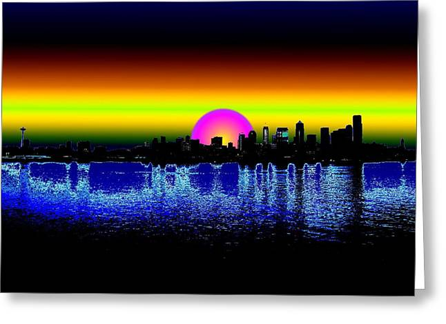 Tim Allen Greeting Cards - Seattle Dawning Greeting Card by Tim Allen