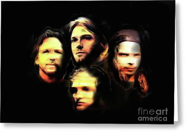 Pearl Jam Mixed Media Greeting Cards - Seattle Deathrow Greeting Card by Hugo Diaz