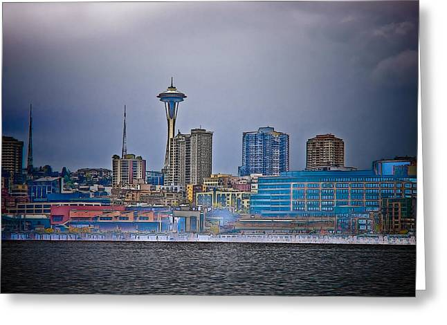 Seattle Greeting Card by Jim DeLillo