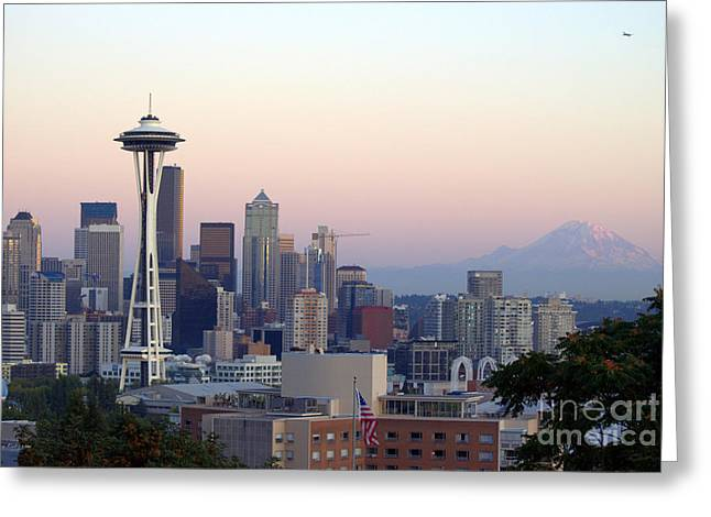 Seattle Greeting Card by Larry Keahey