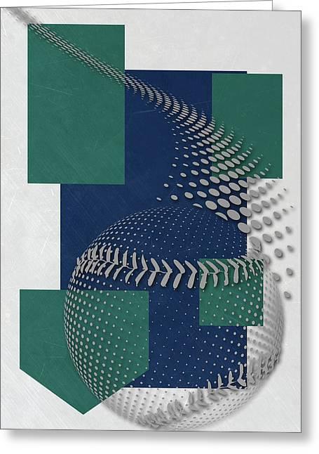 Seattle Mariners Art Greeting Card by Joe Hamilton