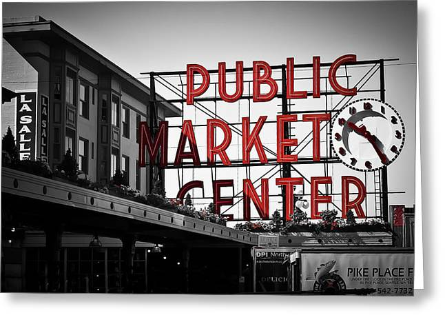 Fish Market Greeting Cards - Seattle Time Greeting Card by April Reppucci