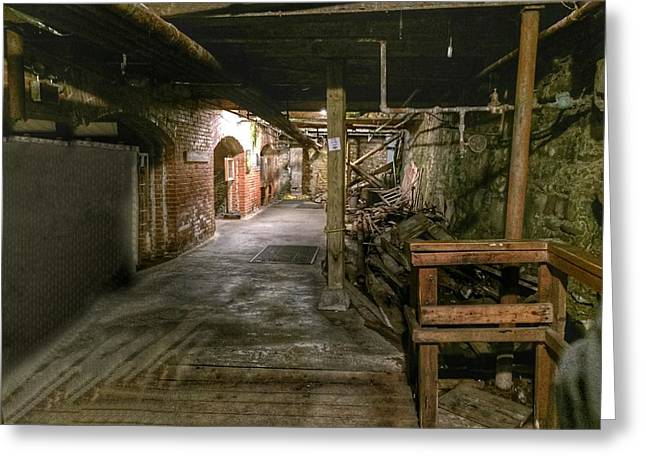 Seattle Underground Greeting Card by Anne Sands