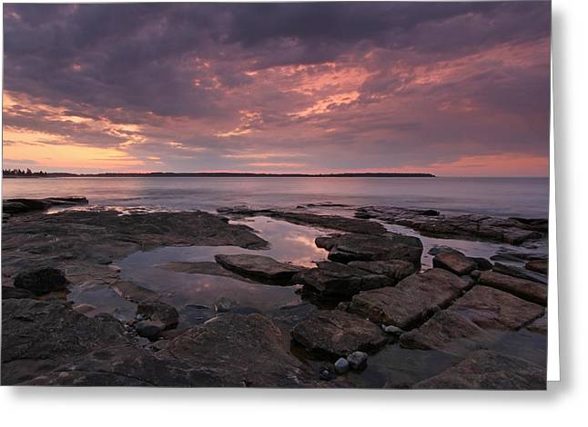 Coastal Maine Greeting Cards - Seawall Greeting Card by Juergen Roth