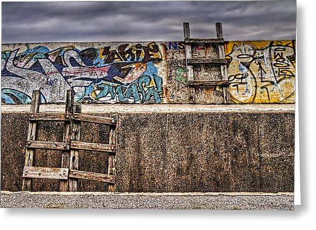 Seawall Greeting Card by Ryan Wyckoff