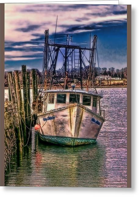 Fishing Trawler Greeting Cards - Seaworthy II Bristol Rhode Island Greeting Card by Tom Prendergast