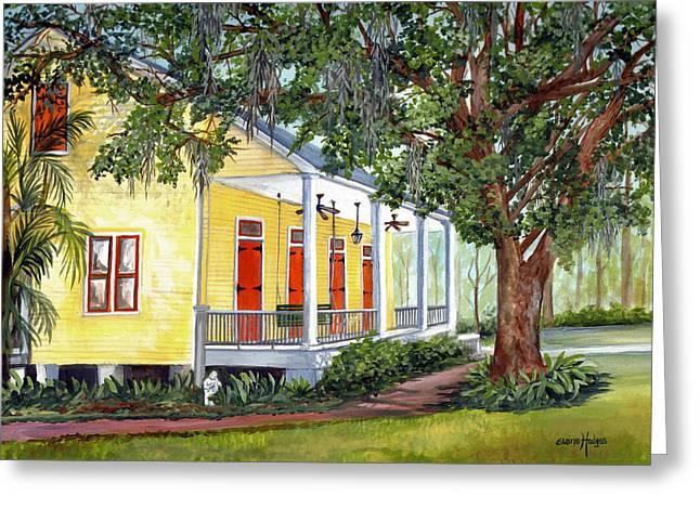 New Orleans Home Greeting Cards - Sebastopol Plantation Greeting Card by Elaine Hodges