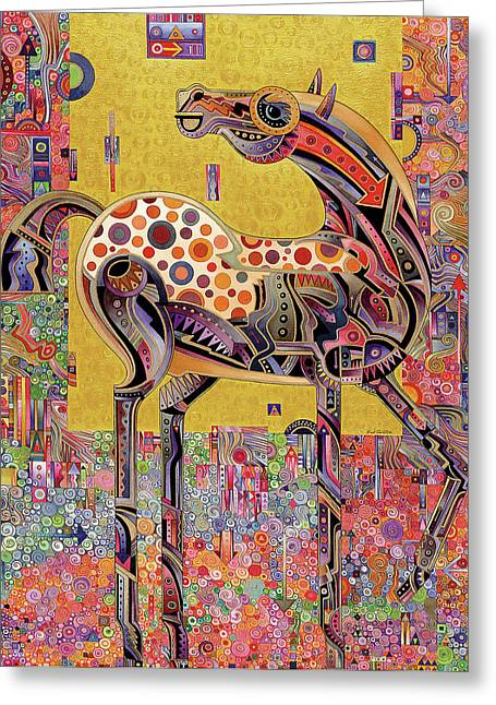 Imaginary Art Greeting Cards - Secessionist Horse Greeting Card by Bob Coonts