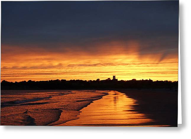 St. George Island Greeting Cards - Second Beach Newport RI Sunrays Greeting Card by Toby McGuire