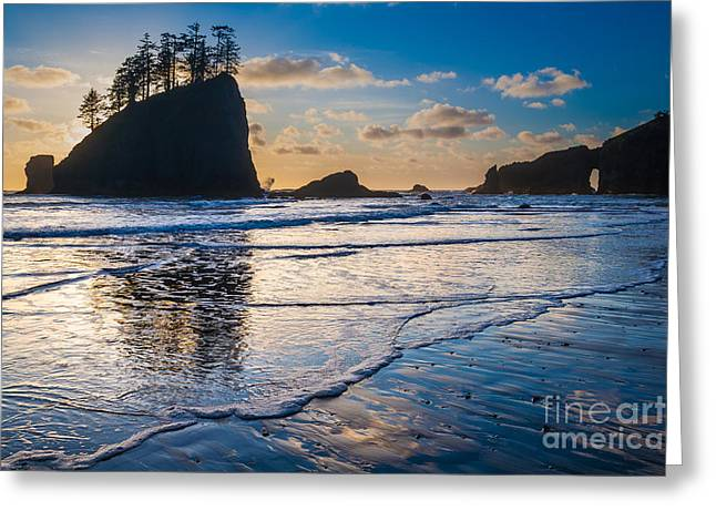 Pacific Northwest Greeting Cards - Second Beach Waves Greeting Card by Inge Johnsson