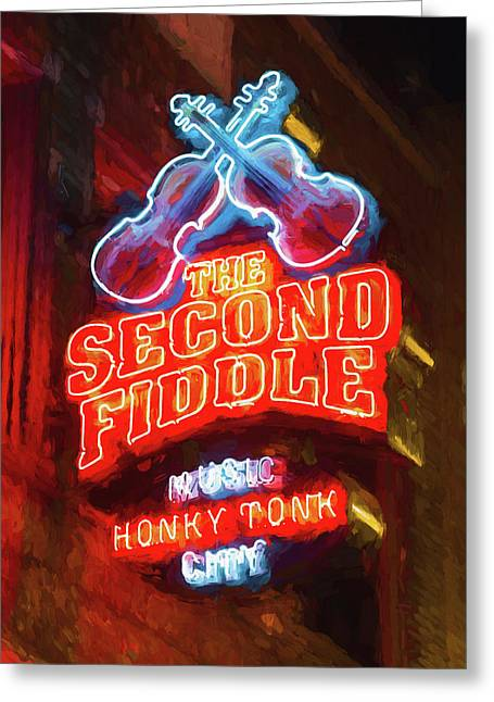 Second Fiddle - Impressionistic Greeting Card by Stephen Stookey