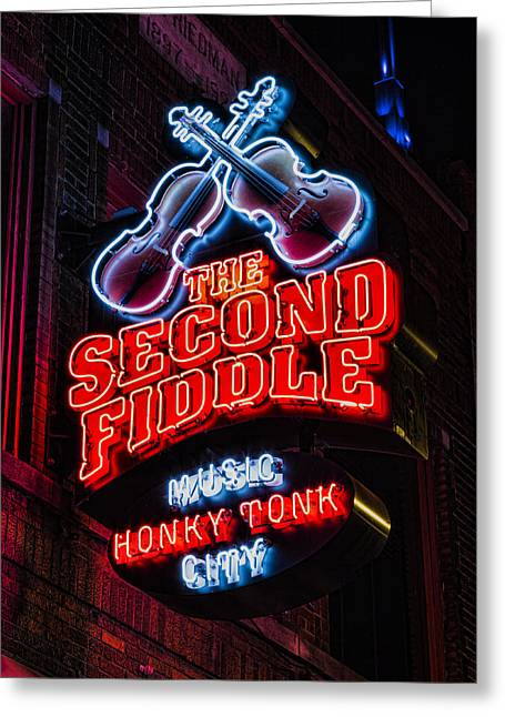 Second Fiddle Greeting Card by Stephen Stookey