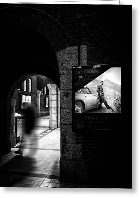 Station Greeting Cards - Secret Agent. Greeting Card by Greetje Van Son