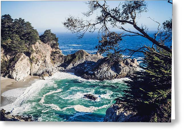 Big Sur Beach Greeting Cards - Secret Cove Greeting Card by Michael Muchnij