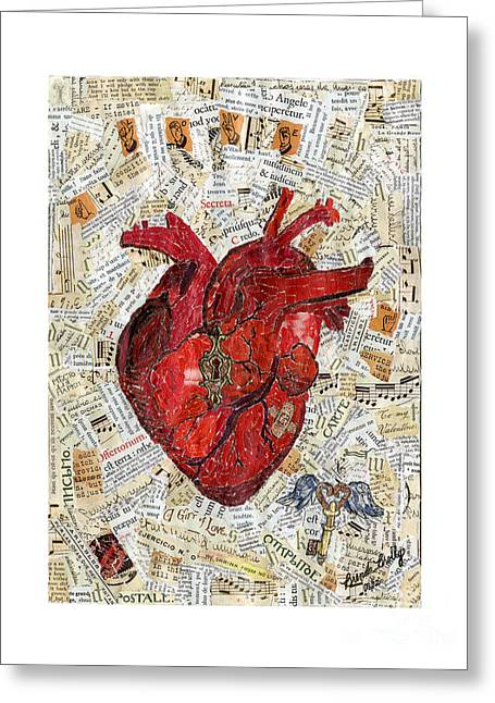 Bandaid Greeting Cards - Secret Heart Greeting Card by Brenda Brolly