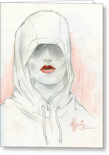 Figurative Drawing Greeting Cards - Secret lies Greeting Card by P J Lewis