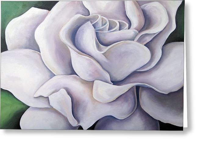 Floriography Greeting Cards - Secret Love Gardenia Greeting Card by Heidi Prange