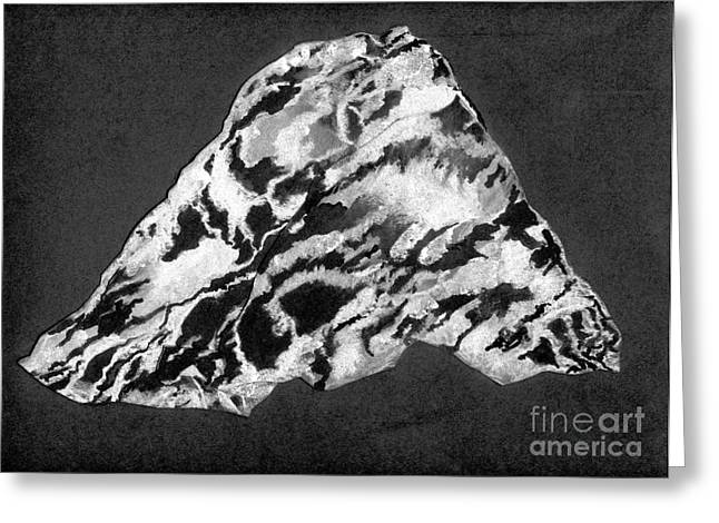 Secret Mountain Greeting Card by Mary Zimmerman