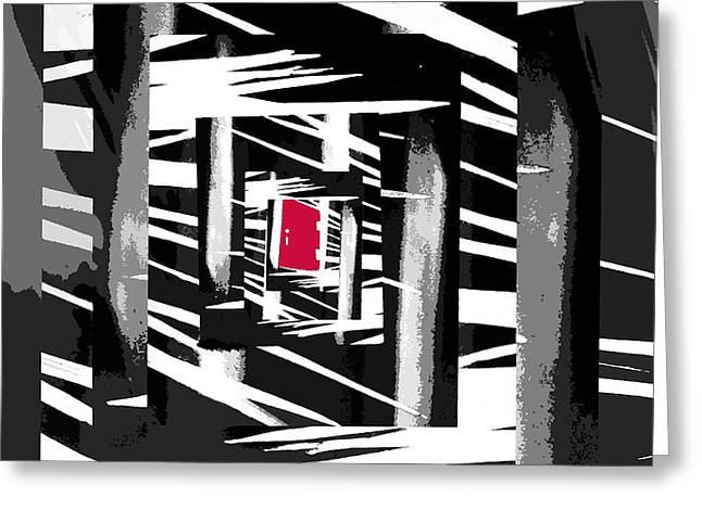 Secret Red Door Greeting Card by Gerlinde Keating - Keating Associates Inc