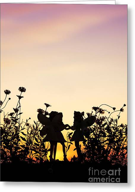 Make Believe Greeting Cards - Secret Sunrise Greeting Card by Tim Gainey