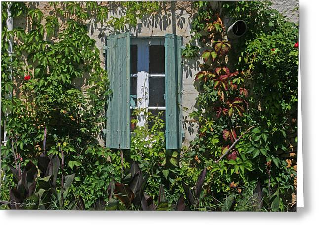 French Open Greeting Cards - Secret Window Greeting Card by Nomad Art And  Design