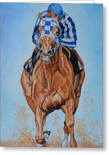Best Sellers -  - Race Horse Greeting Cards - Secretariat Greeting Card by Jana Goode