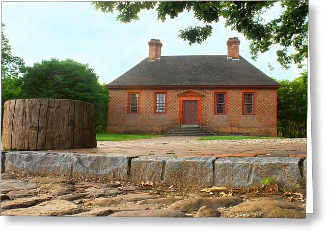 Architectural Photography Greeting Cards - Secretary House - Williamsburg Va Greeting Card by Panos Trivoulides