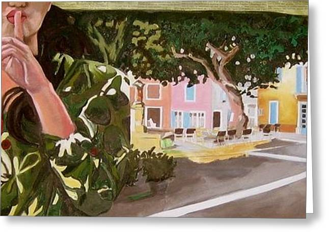 Provence Village Greeting Cards - Secrets du village Greeting Card by Chris Willems