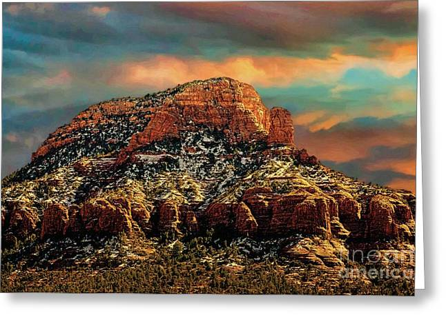 Sedona Dawn Greeting Card by Jon Burch Photography