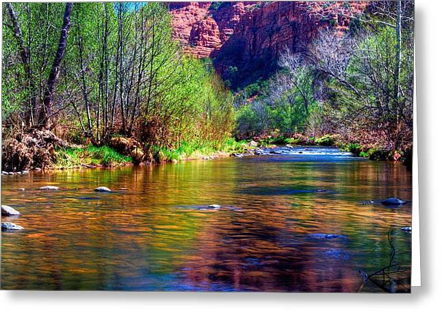 Red Rock Crossing Greeting Cards - Sedona from a Different Point of View Greeting Card by Thomas  Todd
