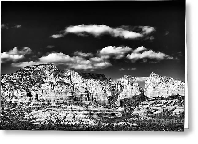 Photo Art Gallery Greeting Cards - Sedona in Black and White Greeting Card by John Rizzuto