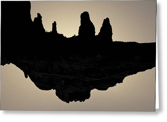 Surreal Landscape Greeting Cards - Sedona Revisited I Toned Greeting Card by David Gordon