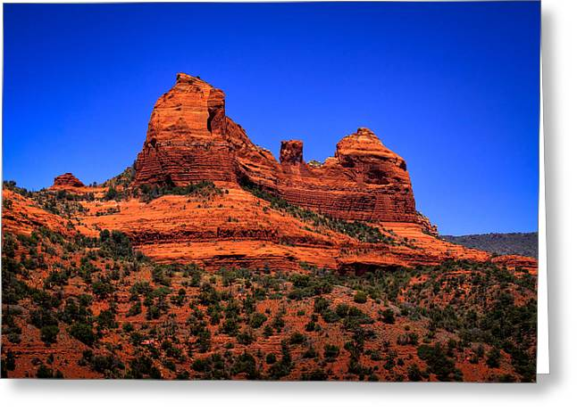 Red Sandstone Greeting Cards - Sedona Rock Formations Greeting Card by David Patterson