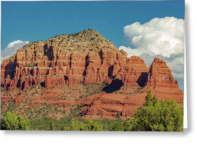 Sedona, Rocks And Clouds Greeting Card by Bill Gallagher