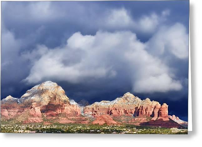Northern Arizona Greeting Cards - Sedona Solstice Greeting Card by Dan Turner
