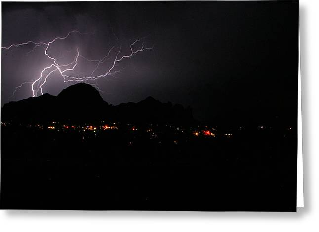 Summer Storm Greeting Cards - Sedona Summer Storm 2 Greeting Card by James Breen