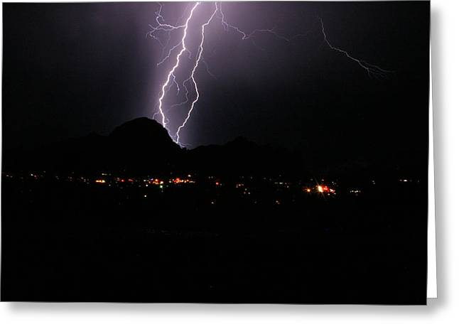 Summer Storm Greeting Cards - Sedona Summer Storm Greeting Card by James Breen