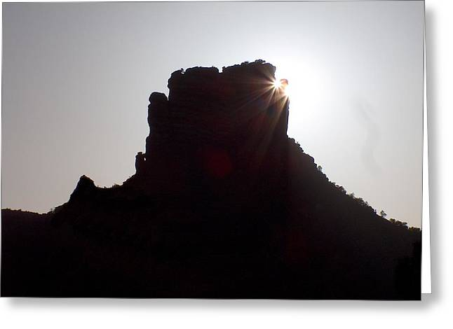 Sedona Sunset Greeting Card by Gt