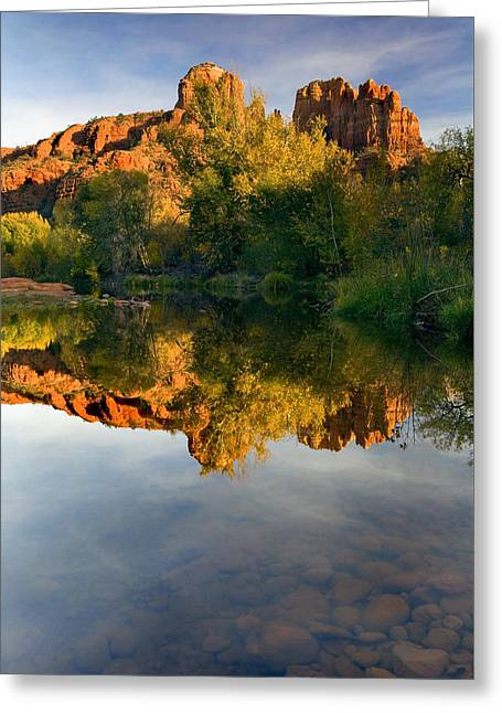 Sedona Sunset Greeting Card by Mike  Dawson
