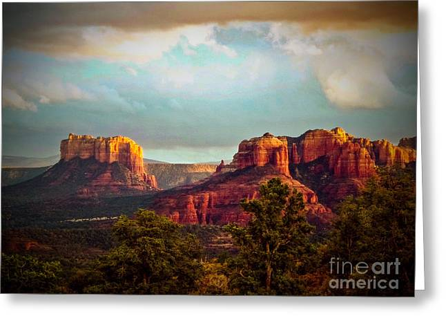 Sunset Greeting Cards Greeting Cards - Sedona Sunset Greeting Card by The Follmers