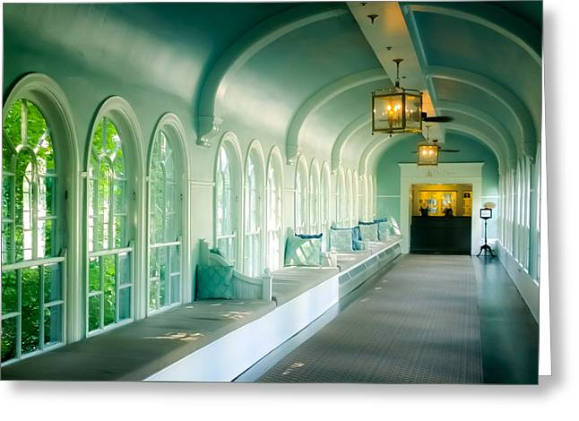 Seduction Of Architecture Greeting Card by Karen Wiles