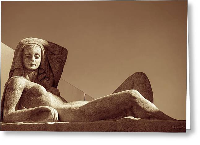 Nudes Sculptures Greeting Cards - Seduction Greeting Card by Wim Lanclus