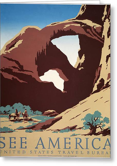 See America Greeting Card by Frank Nicholson