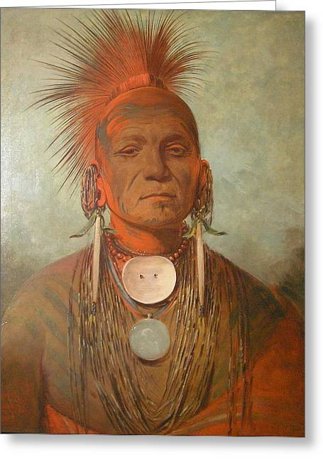 Seen Greeting Cards - See No Ty A An Iowa Medicine Man Greeting Card by George Catlin