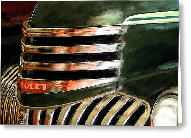 See The Usa In A Chevrolet Greeting Card by Lois Bryan