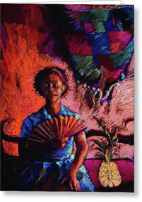 Pineapple Pastels Greeting Cards - Seeing Beyond Greeting Card by Ellen Dreibelbis