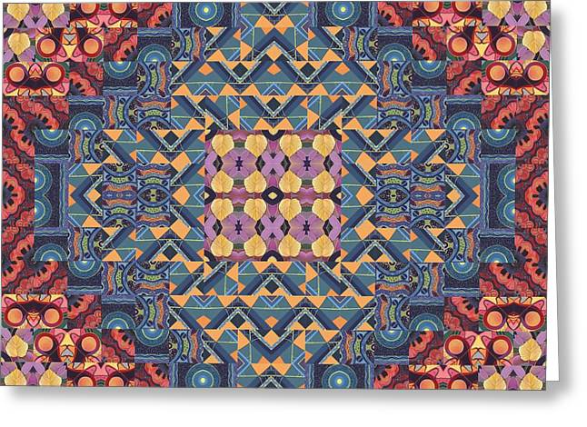 Seeking Oneness - A  T J O D 5-6 Compilation Greeting Card by Helena Tiainen