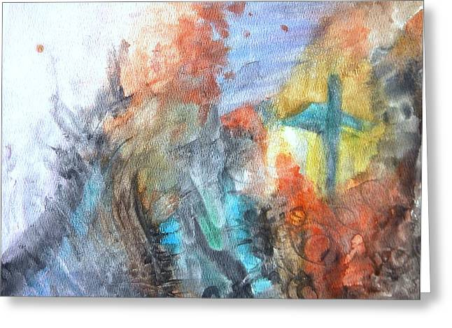 Healing Trauma Greeting Cards - Seeking Salvation from the Turmoil Greeting Card by Cassandra Donnelly